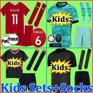 Mohamed THIAGO M. SALAH FIRMINO maglia da calcio maglia da calcio kit 20 21 VIRGIL MANE KEITA MILNER liverpool 2020 2021 Uomo Uniforme per bambini