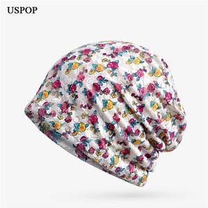 USPOP Frauen Frühjahr Hut Mode women casual Beanies Hut weiblich elastische Baumwolle skullies bandana