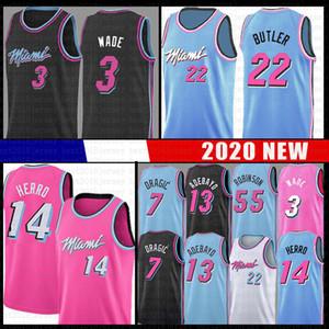 Bam 13 Jimmy Tyler 22 Butler 14 Herro Adebayo Basketball Jersey MiamiHitze55 Dwayne Dwyane Wade 3 Goran Dragic Duncan Robinson Nunn