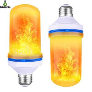 Effet de flamme induit par gravité LED Ampoule scintillant appartement d'ampoulement clignotant clignotant décor à l'émulation LED lampe lumineuse lampe E27 4 modes