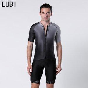 LUBI 2020 Cycling Set Men Bib Shorts Jersey Kit Suit Summer Clothing Clothes Bicycle Bike Italian High Fabric and Sponge Pad