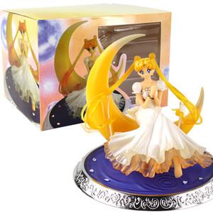 Anime Süper Sailor Moon Karakter Tsukino Usagi PVC Action Figure Wings Kek Dekorasyon Koleksiyon Model Oyuncak