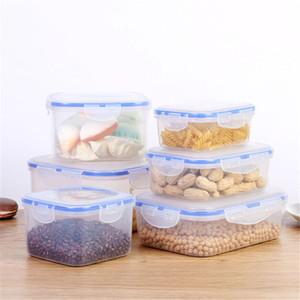 3pcs Micro-ondes Lunch Box PP Bento Super épais Transparent Container Set Crisper Vaisselle Ménage Costume Cuisine Vaisselle