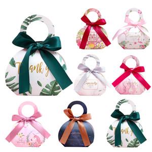30PCS القوس جديدة مع أشكركم كاندي حقيبة عرس الحسنات حقائب حزمة هدية مربع عيد ميلاد الحزب Faovr