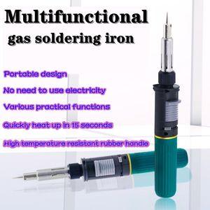 Fonksiyonlu portatif gaz havya küçük gaz şişme havya kaynak tabancası otomatik ateşleme iro