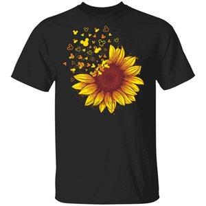 Camisa Pi Numer Símbolo girasol - ratón de Mikey girasol camiseta del amante