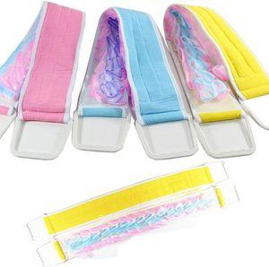 Length 80cm Exfoliating Body Back Strap Brush Shower Sponge Spa Scrub Bath Scrubber bathroom accessory OWC2420