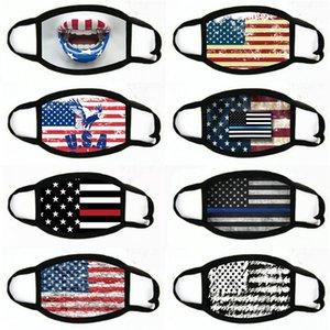 Mangelnde Masken US-amerikanische Wahlen Zubehör Staubdichtes Druckmaske allgemeinhin für Männer-Frauen-Flagge Maske Partei Masken 2020 # 332