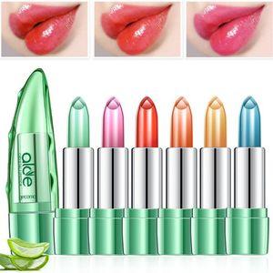 Dropship New 1Pc Aloe Vera Lipstick Temperature Change Color Red Lip Stick Blam Transparent Magic Jelly Waterproof Lipsticks