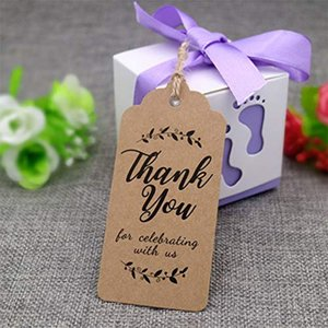 20M Diy Kraft Gift Tags Thank You Paper Tags for Baby Shower Party Favors Wedding Birthday Party Gifts for Guests