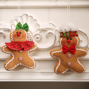 Christmas Decorations christmas tree gingerbread man pendant cloth five-star Christmas Gingerbread doll living room home decoration