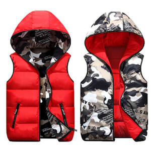 Fashion Mens Jacket Sleeveless Vest Winter Male Double-Wear Cotton-Padded Hooded Vest Coats Men Thick Warm Waistcoats Clothing