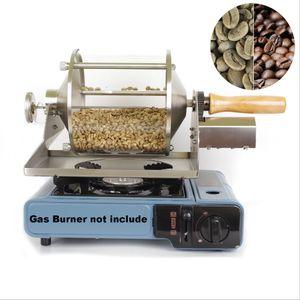 110V / 220V Haushaltsklein Fuel Gas Kaffeebohnen Backautomaten Direct Fire Roaster 400G Kapazität Glas Transparent Visualisierung