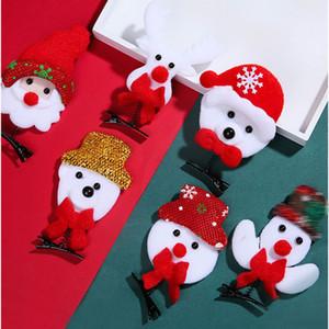 NOUVEAU Noël Cadeaux de vacances Hairpin enfants Bonhomme de neige de Noël pour enfants Elk Mignon Accessoires cheveux Livraison gratuite GWA1366