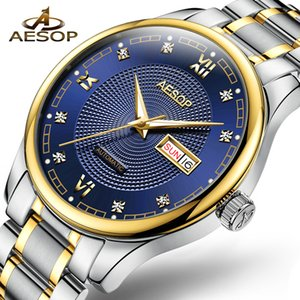 AESOP Men's Business Automatic Mechanical Watch Men Wrist Watches Wristwatch Stainless Steel Male Clock Men Relogio Masculino