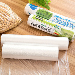 1Roll 50Pcs Food Fruit Storage Bag Packaging Plastic Bags Saran Wrap Kitchen Fresh Keeping Heat Sealer Food Saver Bag Vacuum