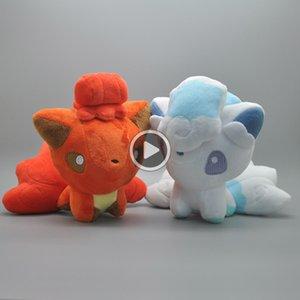 """Hot New 2 Styles 6"""" 15CM Aa Vulpix Plüsch-Puppe Anime Sammlerpuppen-Party-Geschenke Gefüllte Plüschtiere"""