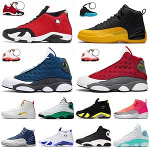 air jordan retro 12s 13s 14s off white shoes JUMPMAN Steinblau Männer Basketballschuhe Universität Gold Flint GYM RED Reverse Grippespiel Frauen Trainer Outdoor Sportschuhe