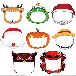Мода Anime Kids Party Face Shield Маски Очистить Мультфильм Шаблоны Рождество Хэллоуин Новый год Косплей Costum Защитные маски FY8121