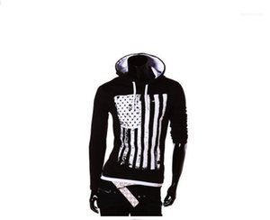 Mens American Flag Pullover Hoodies Man Hooded Neck Long Sleeve Sports Fashipn New Sweatshirts Man Designer Casual Clothes