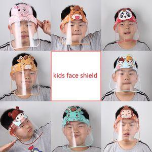 Childrens Visiera del fumetto del capretto riutilizzabile anti-fog protezione Full Face Shield Anti-spruzzi Shield per il bambino per proteggere occhi e viso