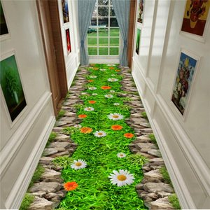 Mode Zone de chevet 3D Salon Tapis Entrance intérieur Tapis Paillasson Fleur Plantes Goldfish Cuisine Couloir Tapis Tapis