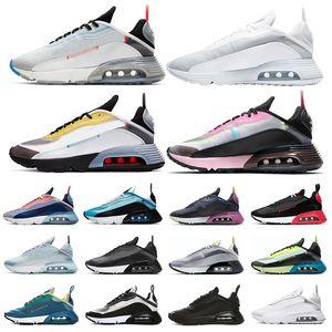مصمم 2090 الاحذية للرجال النساء النقي البلاتين أوريو الغبار الفوتون بطة كامو رجل أبيض أسود مدربة رياضية أحذية رياضية حجم 36-2090 nike air max 45