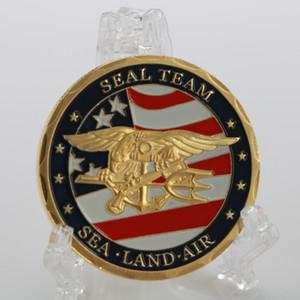 Custom-made EUA Navy SEAL medalha moeda desafio coleção emblema moedas lembrança de ouro.
