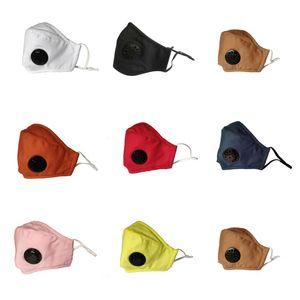13 видов твердого цвета Трехмерное Cotton маски с дыхательным клапаном фильтром Куском и ухом Маской могут быть размещены маска DHC06