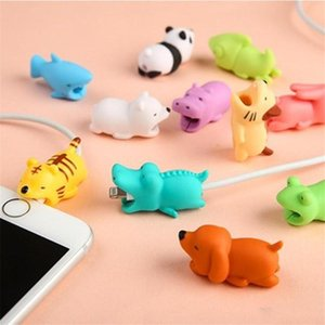 Hot Cable BiteToy Cable Protector Animal Iphone Cable Bite Animal Doll 2*2*4cm Animal Iphone port Bite Data line protector toys