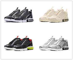 Nike Air Zoom Spiridon Cage 2 Stussy  أحذية جديدة المسار الأحمر بيج الأزياء ستوسي تكبير سبيريدون محبوس 2 للرجال رياضة الجري المدربين النساء احذية CU1854-200