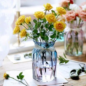 New Creative Color Glass Vase European Water Culture Flower Modern Minimalist Small Fresh Home Decoration Desktop Ornaments