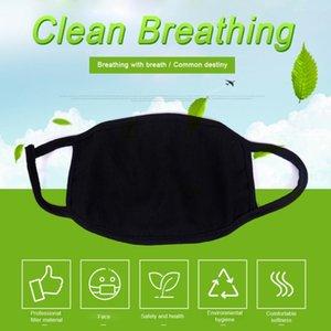 Unisex Fashion Mund waschbar wiederverwendbares Tuch Masken Anti-Staub Warm Ski Black Cotton Face Mask für Radfahren Camping-Reisen