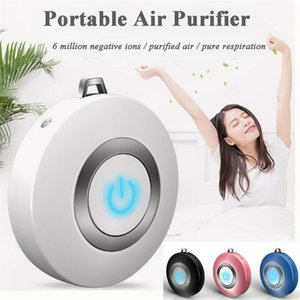 Mini Portable Air Purifier Necklace Wearable Air Freshener Oxygen Anions USB Port Cleaner For Kids Adults