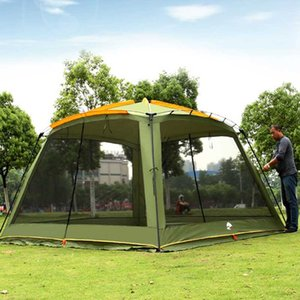 New Style Good Quality 4 Corners Garden Arbor Multiplayer Leisure Party Camping Tent Awning Shelter Barbecue Tent Pergola