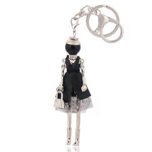 fashion keychains free shipping new cute doll key ring & key chain bag charms car pendant for women handbag kryrings