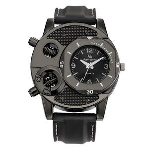 Sport Watch Men Clock Unique Design Fashion Men's Watches Leather Band Nail Male reloj Quart orologio uomo 2020 Gift