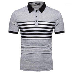 Designer Polos Striped Printed Stehkragen Kurzarmshirts Mens 2020 Luxusdesignerkleidung für Sommermens