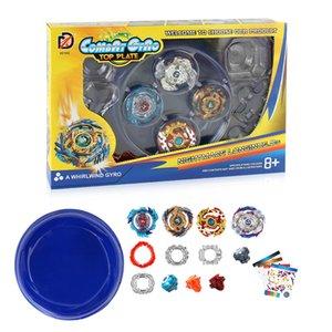 4 en 1 Kid jouets Gyro jouets poignée bricolage combinaison lancement gyroscopique disque de combat cadeau de vente chaude de l'enfant