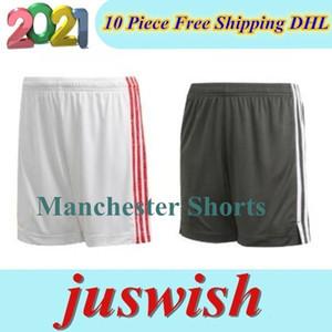 2020 2021 Manchester Futbol Şort MARTIAL RASHFORD MATA DE GEA Pogba 20 21 birleşik kaleci futbol Sports şort pantolon S-2XL