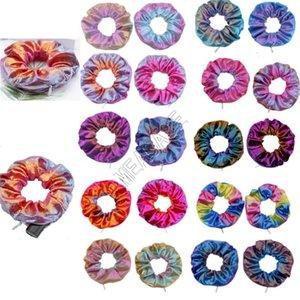 Zipper Scrunchies Color Gradient Scrunchy elastische Haar-Riegel-Seil-Frauen-Mädchen-Mode-Haarbänder Pferdeschwanz-Halter-Haar Accesseries Geschenke D91507
