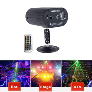 Led Sound Actived 7 Colors Disco Light Strobe RGB Ball Effect Projector Lighting with Remote for Bar Club Parties DJ Laser Lights