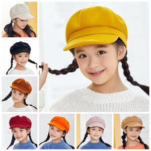 Kids Baby Boy Girl Cute Infant Toddler Soft Beret Cap Dome Octagonal Hat Baseball 2020