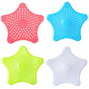 Kitchen Sink Filter Star Sewer Outfall Silicone Strainer Kitchen Bathroom Sea Star Sucker Filter Colanders Strainer Strainer Filter LSK615