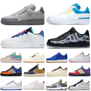 air force 1 one forces forced shoes airforce af1 n354 Schatten reagieren Laufschuhe Chaussures Be True Skeleton Damen Herren Trainer Sport Turnschuhe Plattform