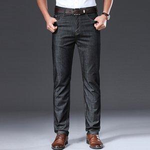 Browon Marca 2020 verano de los hombres respirable fino suave mediados de hombres del recto regular los pantalones vaqueros para hombre Ropa de segunda mano