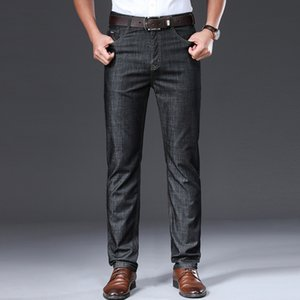 Browon Brand 2020 Мужчины Лето Тонкий дышащий Soft Mid Straight Regular Мужские джинсы Брюки Vintage Мужская одежда