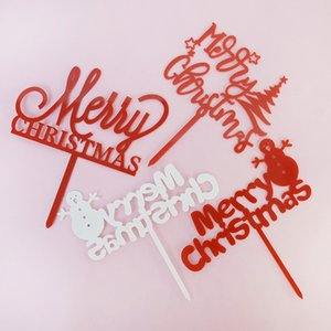 1p Merry Christmas Cake Topper nuovo anno felice Cupcake Toppers Bandiere Cake Decorating Baby Shower compleanno di cerimonia nuziale Navidad Noel