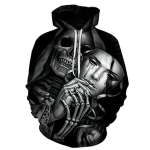BIAOLUN Funny Skull Hoodies 3D Hoodies Men Women Sweatshirts Unisex Tracksuits Fashion Casual Streetwear Hooded Brand Pullover 200923