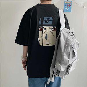 Los hombres de Naruto del Anime las camisetas de las mujeres Graphic Tees tapas flojas Harajuku ulzzang T Streetwear coreanos tapas de la ropa